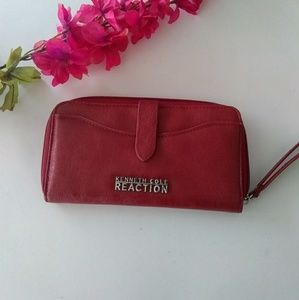 EUC Red Kenneth Cole Reaction Wristlet